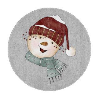 Custom Snowman Winter Christmas Cutting Board