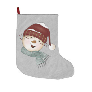 Custom Snowman Winter Christmas Large Christmas Stocking