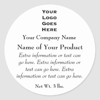 Custom Soap or Cosmetics Label with Logo Round Sticker