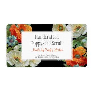 Custom Soap or Craft Poppy Cornflowers Labels
