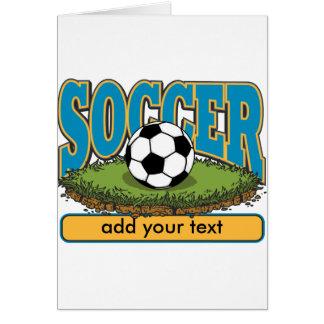 Custom Soccer Add Text Card