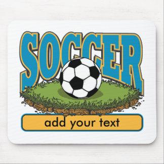 Custom Soccer Add Text Mouse Mat