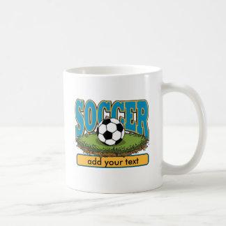 Custom Soccer Add Text Coffee Mugs