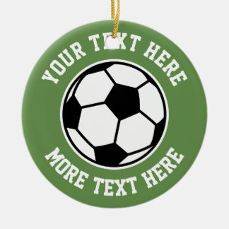 Custom soccer ball sports Christmas tree ornament