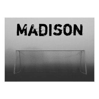 Custom Soccer (Football) Player / Team Name Poster