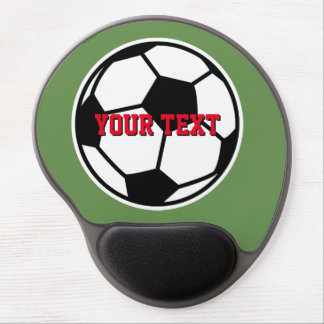 Custom soccer gel mouse pad for coach & player