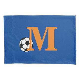 Custom Soccer Monogram Pillow Case