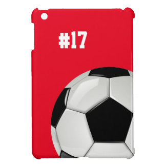 Custom Soccer Red iPad Mini Case 2