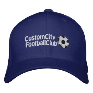 Custom Soccer Team Text Hat Cap Embroidered Baseball Caps