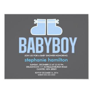 Custom socks baby boy 11 cm x 14 cm invitation card