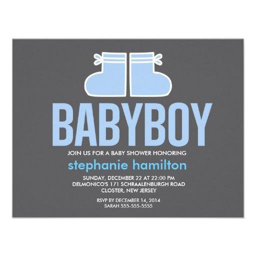 Custom socks baby boy personalized invitations