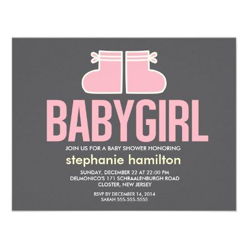 Custom socks baby girl custom invitations