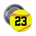 Custom Softball Button Pin