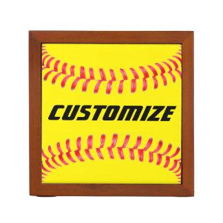 Custom Softball Desk Organizer