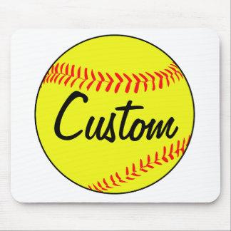 Custom Softball Mouse Pad