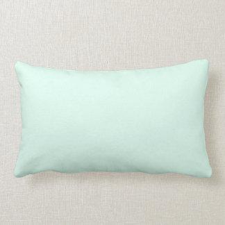 Custom Solid Light Mint Green Color Lumbar Pillow