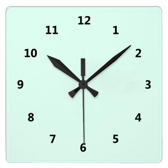 Custom Solid Light Mint Green Colour Wall Clock