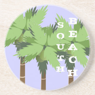 Custom SOUTH BEACH Miami Palm Tree on Lavender Coaster