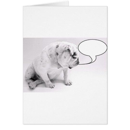 custom speech bubble bulldog card