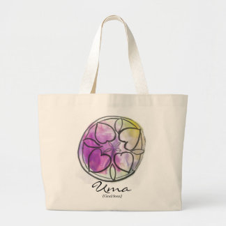 Custom Spiritual Name Bag: Heart Mandala Design Jumbo Tote Bag