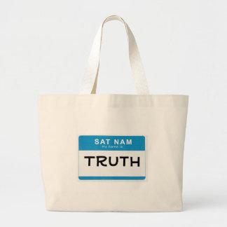 Custom Spiritual Name Bag: Sat Nam. My name is ___
