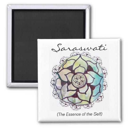 Custom Spiritual Name Magnet: Lotus Essence Design Magnet