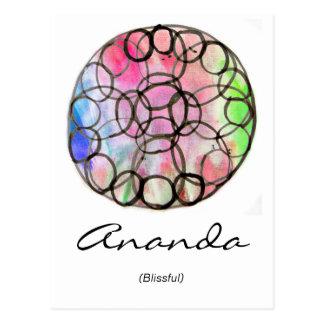 Custom Spiritual Name Postcard: Flower of Life Postcard