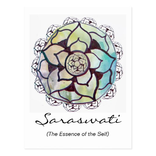 Custom Spiritual Name Postcard: Lotus Essence