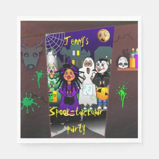 Custom Spook-tackular Halloween Party Disposable Serviettes