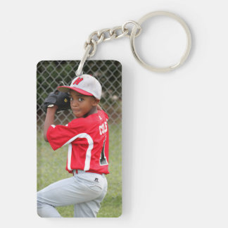 Custom Sports Photo Keychain
