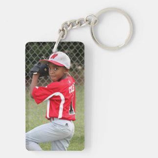 Custom Sports Photo Keychain