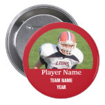 Custom sports team photo - RED 7.5 Cm Round Badge