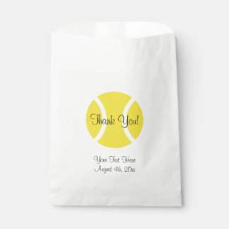 Custom sports tennis Birthday party favor bags