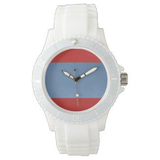 Custom Sporty White Silicon blue sky design Watch