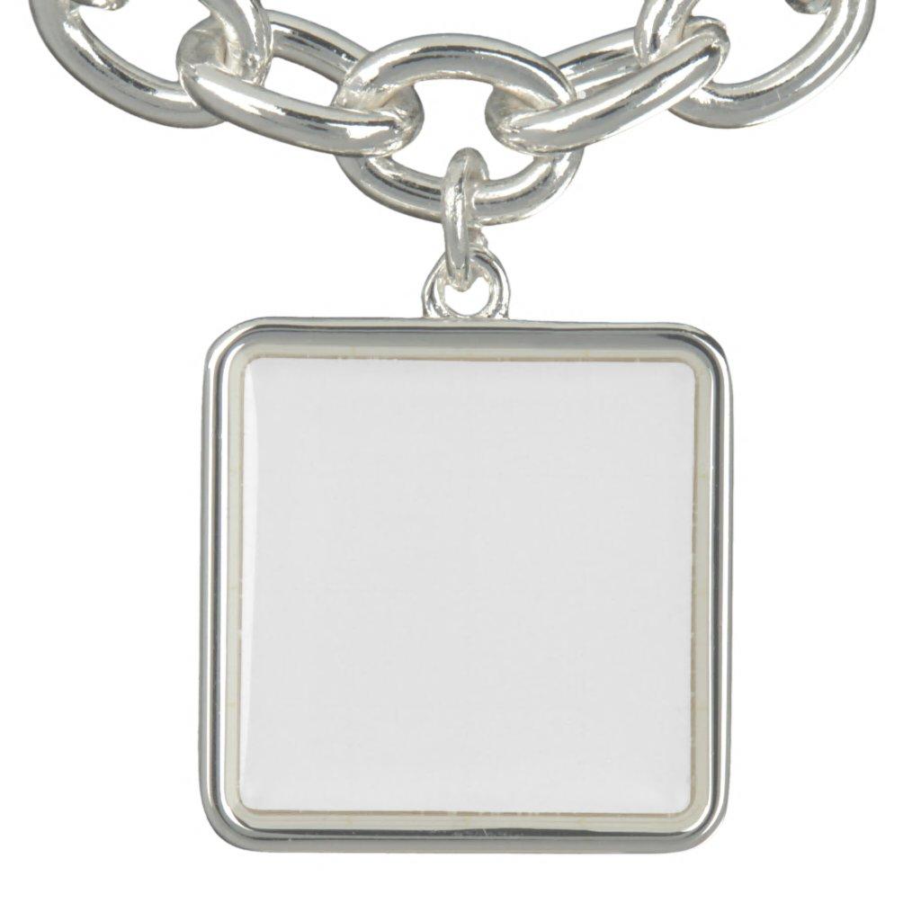 Custom Square Charm Bracelet