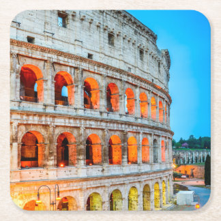 Custom Square Coasters Colosseum Rome Italy