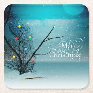 Custom Square Coasters - Merry Christmas
