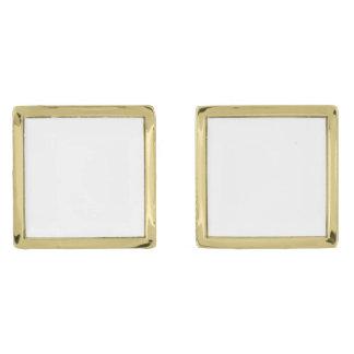 Custom Square Gold Plated Cufflinks Gold Finish Cuff Links