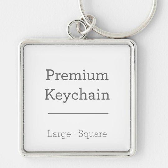 Large (5.1 cm) Premium Square Key Ring
