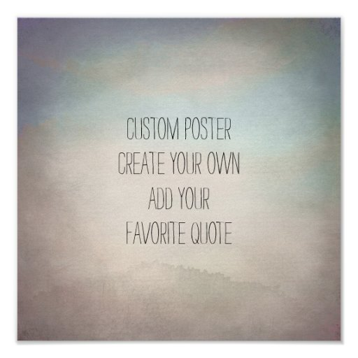 custom square poster add your quote watercolor