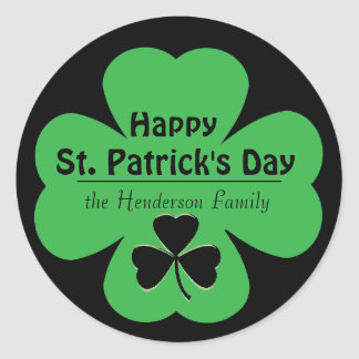 Custom St. Patrick's Day Envelope Seals Round Sticker
