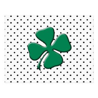 Custom St. Patrick's Day Green Clover Postcard