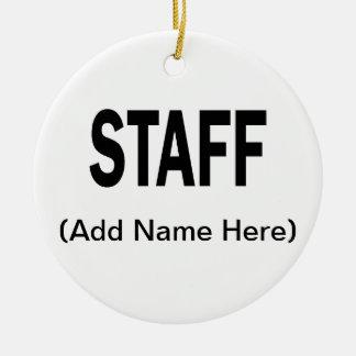 Custom Staff Christmas Ornament