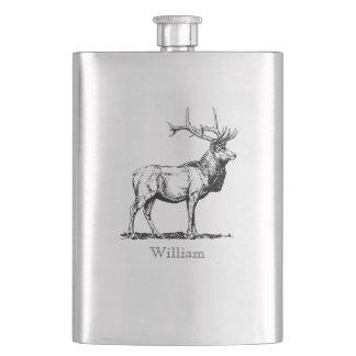 Custom Stag Flask