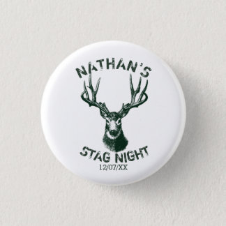 Custom Stag Night Antlers 3 Cm Round Badge