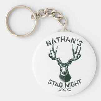 Custom Stag Night Antlers Key Ring