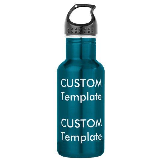 Custom Stainless Steel Water Bottle EL. BLUE 18oz.