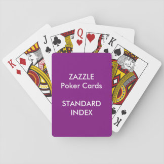 Custom STANDARD INDEX Poker, Playing Cards