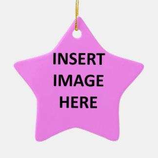 Custom Star Ornament Template