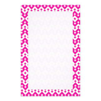 Custom Stationery, Notepaper: Candy Pink Geometric Stationery